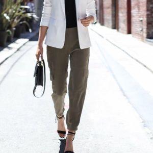 Theory Melinda linen blend truck pants size 4